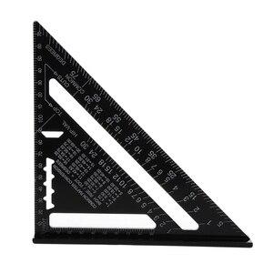 Треугольная измерительная линейка, 7 дюймов, метрический алюминиевый сплав, скорость, квадратная кровля, треугольный угол, транспортир, Trammel, тестер инструменты