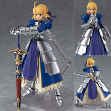 лучшая цена Anime Fate stay Night Saber Figma PVC Action Figure Collectible Model Toy 14cm FNFG032