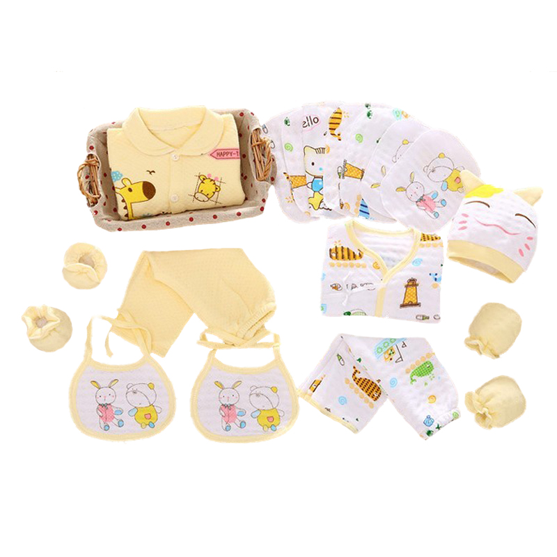18pieces/set thickening for new born baby newborn baby clothing set for 0-6M brand kids clothes cotton baby cute underwear