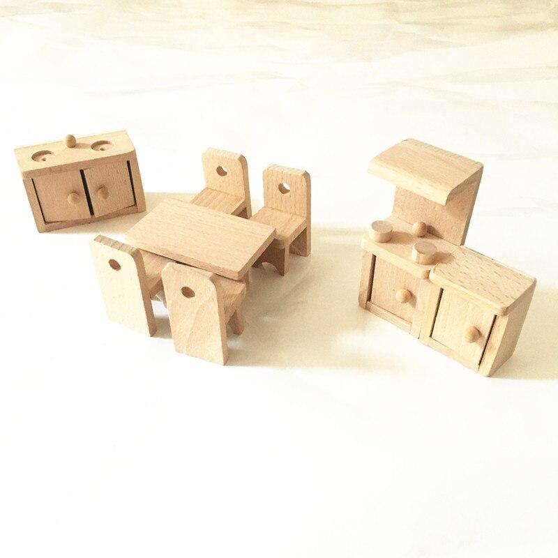 Juguetes de madera tradicionales Mini Muebles de madera Juguete Casa - Juguetes clásicos - foto 4
