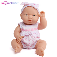 WOWCHEER 13 33cm Classical Realistic Newborn Doll Silicone Vinyl Lifelike Tiny Reborn Baby Dolls Toys For Girls Xmas Gift