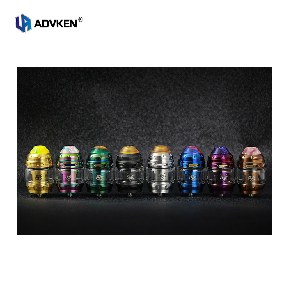 Original Advken OWL Sub Ohm 4ml Tank Mesh Coil 810 PEI drip tip with 0 2ohm