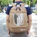 NOVO Ataque Qualidade em Titan Mochila Schoolbag Bolsa de Ombro Bolsos De Imitação Homens Mochila Scouting Legião APB22