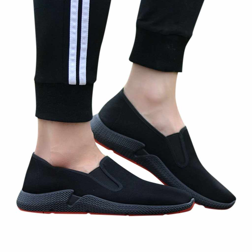 5a6ac8773715 2019 Summer Breathable Mesh Sneakers Men Shoes Comfortable Slip On ...
