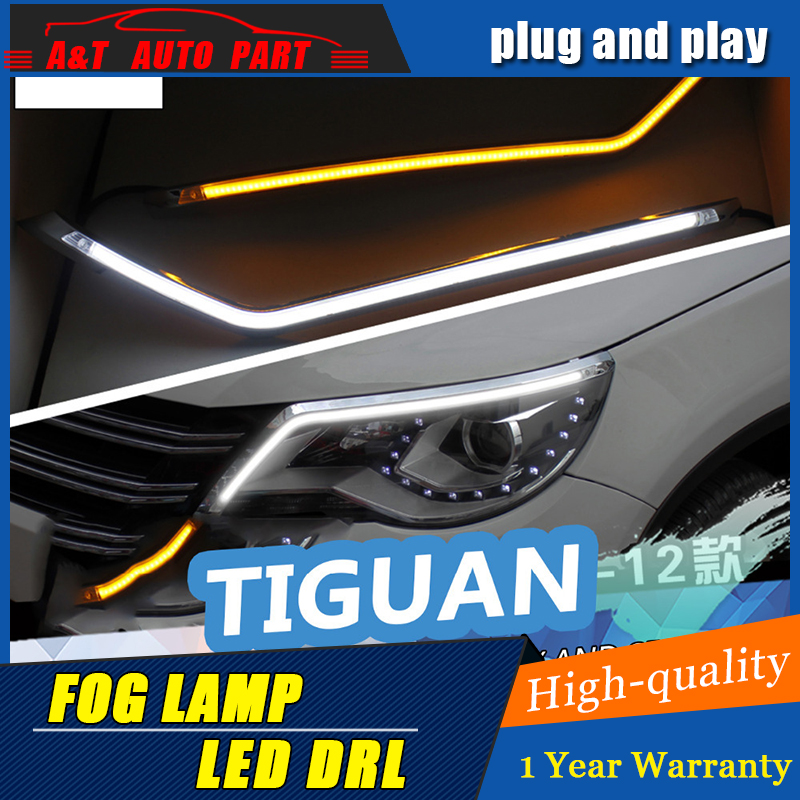 JGRT Car styling Freeshipping 9600Lm For 2010-2012 VW Tiguan Car Headlight Angel Eyes LED Eyebrow Daytime Running Light jgrt car styling for vw tiguan taillights 2010 2012 tiguan led tail lamp rear lamp led fog light for 1pair 4pcs