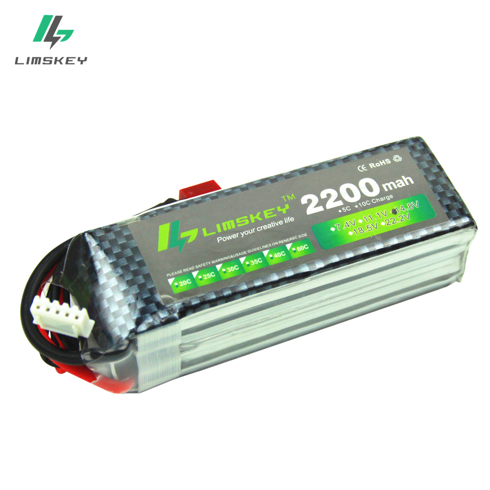 Limskey Power Lipo Battery <font><b>14.8V</b></font> <font><b>2200mAh</b></font> 25C Max 35C 4S Lipo For Helicopter Quadcopter RC Truck Drone Battery 14.8 Lipo image