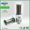 Lâmpada LED Real Nenhuma Cintilação/Strobe Poder IC Design Inteligente Lâmpada LED de Milho elevada do Lúmen 4014 SMD E27 E14 220 V longa Vida CONDUZIU a luz do Ponto