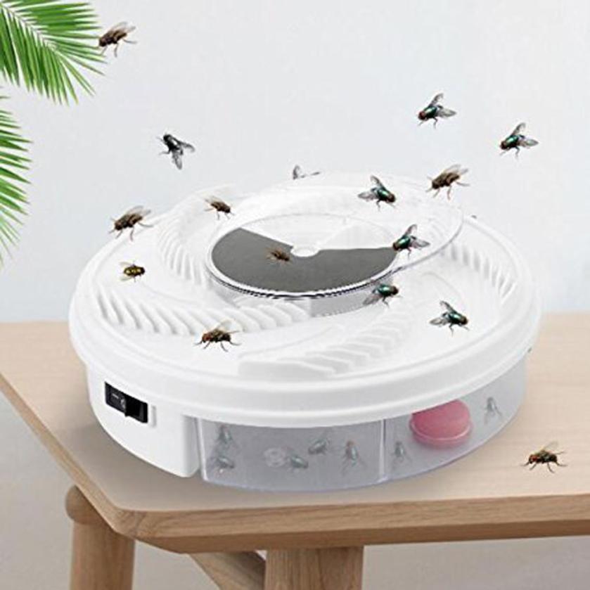 Fly Bug Tueur de Moustique Buzz Piège À Mouches Électrique Dispositif avec Piégeage Alimentaire-Blanc USB Câble Zapper Tuer Vente Chaude extérieurs pour La Maison