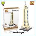 Mr. froger empire state building world famous architecture juguete del bloque de diamante loz ladrillos nueva york ee. uu. bloques de construcción del cubo casa