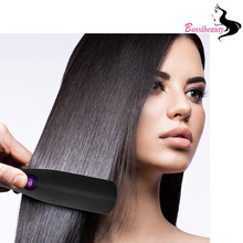 Sale Women Hair Care Professional LED Ceramic Fast Heating Black Color Hair Straightening Comb Home Use Brush Tool