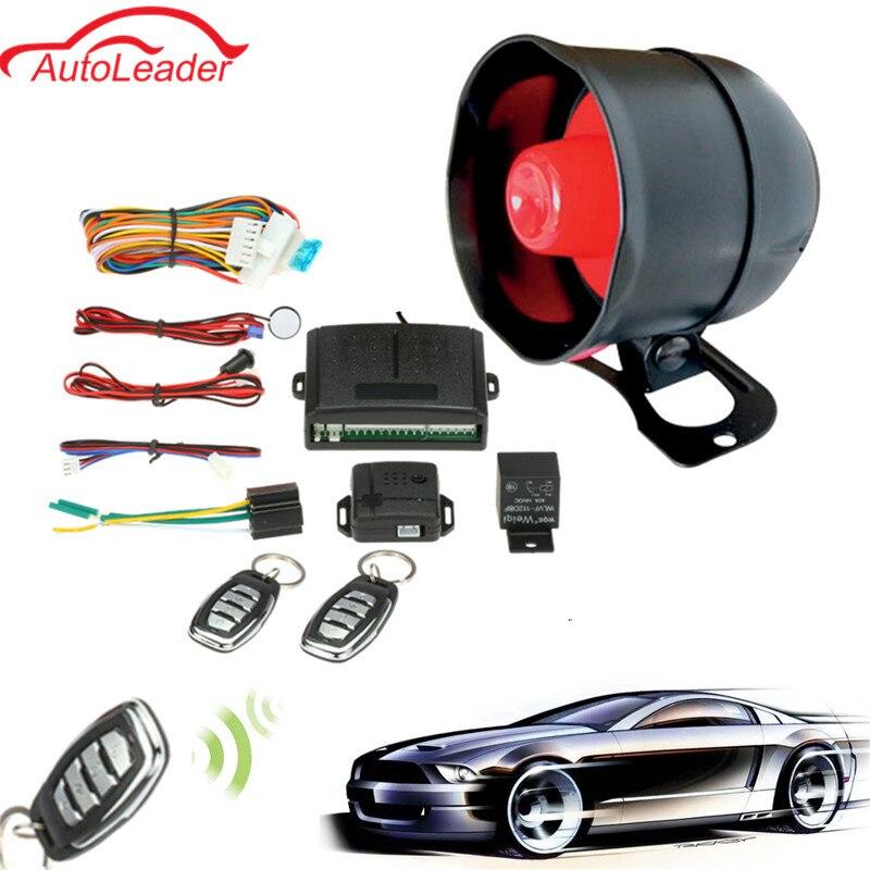 Universal 1 Way Car Vehicle Protection Alarm Security System Keyless Entry Siren 2 Remote Control Burglar
