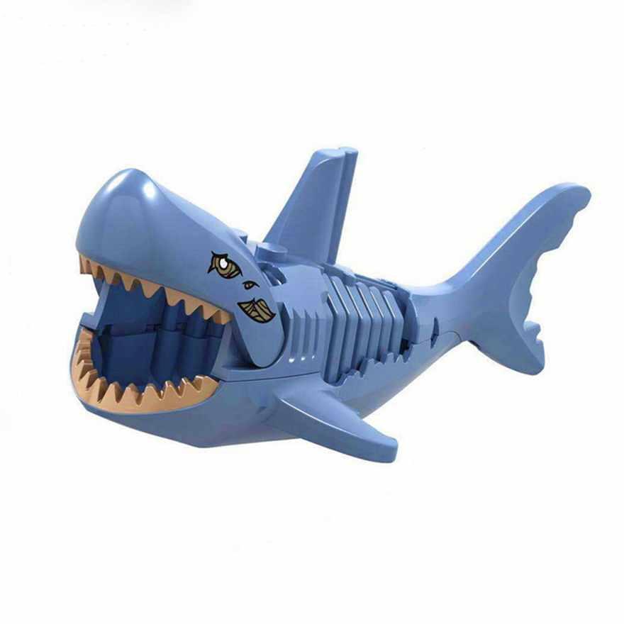 6 قطعة الألوان LELE الكاريبي قراصنة شبح غيبوبة أسماك القرش الشكل كتل متوافق Legoe الطوب بناء اللعب للأطفال