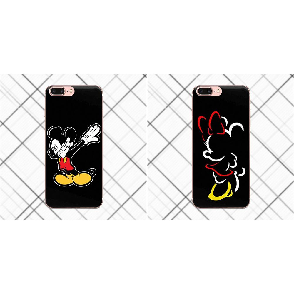 Soft Luxury Cute Lovers Cartoon Mickey Minnie Mouse For Sony Xperia Z Z1 Z2 Z3 Z4 Z5 compact Mini Premium M2 M4 M5 T3 E3 E5 XA