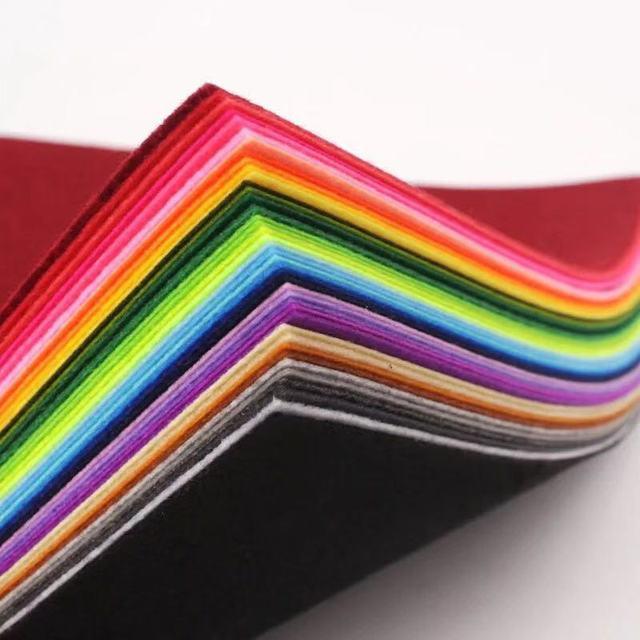 10*10 cm 10 pz/lotto colore casuale Non-tessuto di Feltro FAI DA TE forniture di