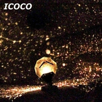 ICOCO 3th Gerneration Romantic Astro Star Sky Projection Night Light Starry Lamp With Adapter For Birthday