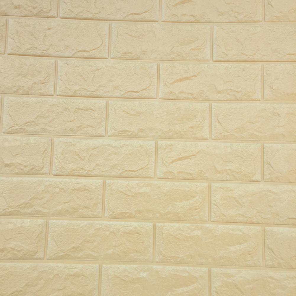1 Sheet PE Foam 3D Brick Stone DIY Wall Sticker Embossed Home ...