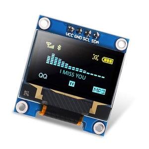 0,91/0,96 дюйма, серия IIC, желтый, синий ЖК-дисплей, модуль 128X64 I2C SSD1306 12864 плата с ЖК-экраном для Arduino с 40-контактным Dupont