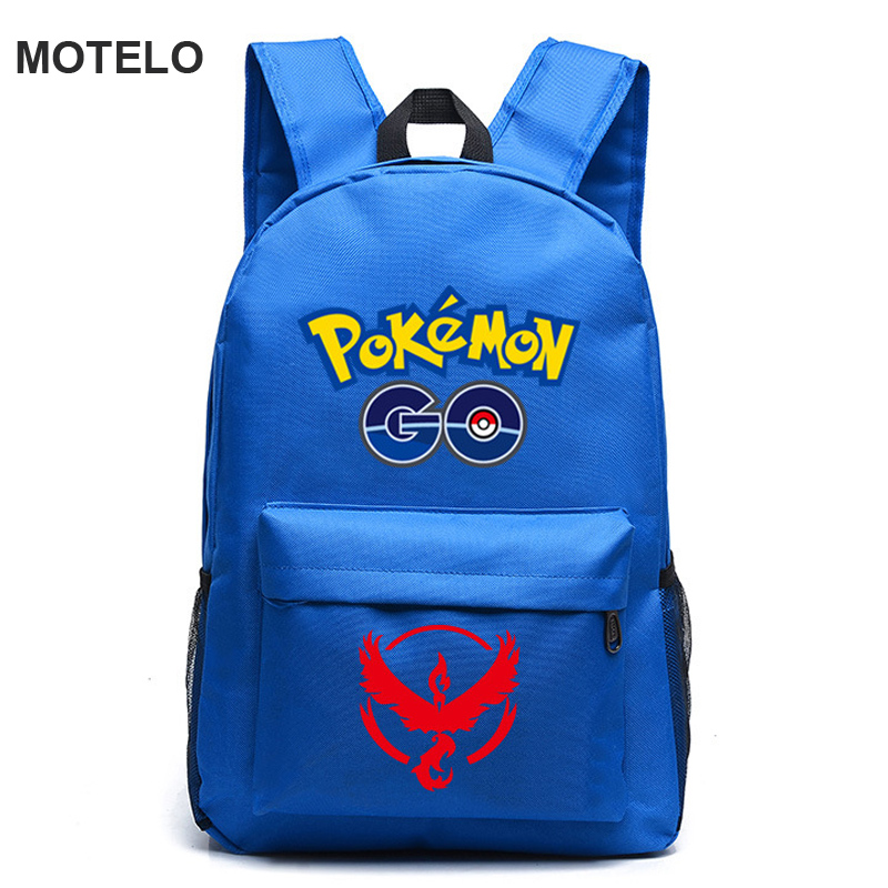Men's Pokemon Gengar Backpack Printing Canvas Bag Animation School Bags CH
