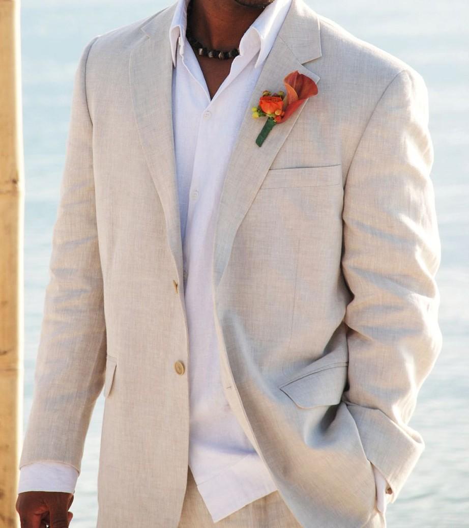 2017 Legfrissebb Kabát Pant minták Champagne vászon Nyári - Férfi ruházat