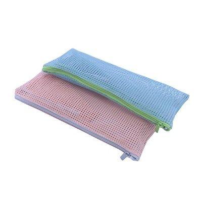 22x11cm Cosmetic Makeup Toiletries Zipper Portable Movable Travel Bag Purse Pouch Mesh Bag Zip Pencil Pen Case