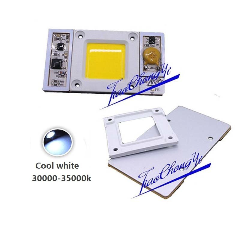 10PCS 220VAC High Power 50W led chip built-in driver Cool white 30000k LED lamp10PCS 220VAC High Power 50W led chip built-in driver Cool white 30000k LED lamp