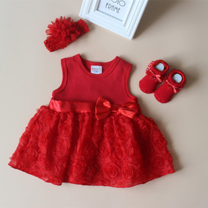 New Born Baby Girls Infant Dress & Clothes Lace Baby Baptism Dress 2019 Christening Dress Newborn Baby Girl Dresses 3 6 9 Months(China)