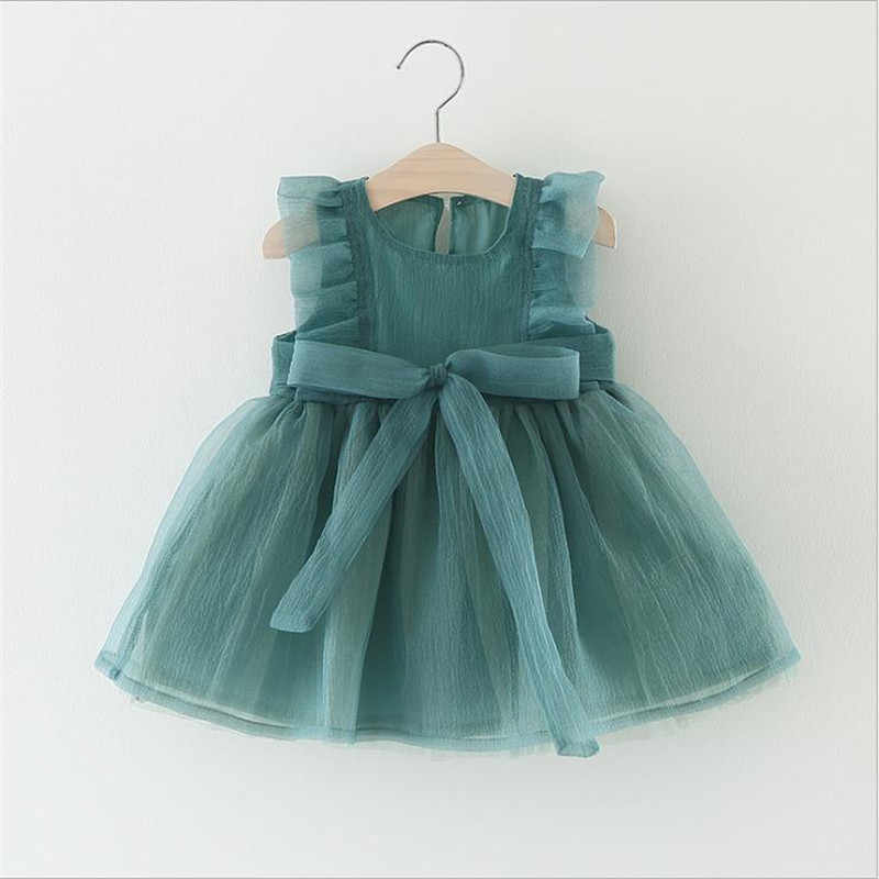 8a6f47922 New Fashion Dresses Formal Newborn Wedding Dress Baby Girl Bow Pattern For Toddler  1 Years Birthday