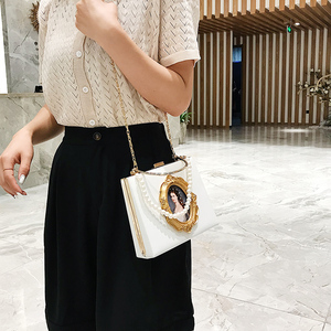 Image 3 - ヴィンテージ油絵バッジファッションpu女性パーティートートバッグクロスボディバッグ女性のためのポーチハンドバッグトート財布