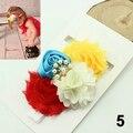 Crianças do bebê girls ' Elastic lantejoulas Rose Buds flor nó Beads Headband cabelo Bandhot