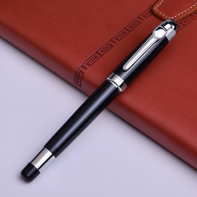 Silver black Monte Roller ball Pen send a refill School Office supplies ball pens high quality send friend business gift 088 4