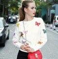 2016 новая мода женская Новая Осень Винер Женщины Бабочка шерсть вязание свитер Теплый Повседневная Пуловеры горячей продажи