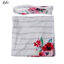 Newborn Baby Flower Swaddle Warp Blanket Sleeping Bag Swaddling Receiving Blankets +Headband 2PCS