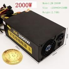 Asic bitcoin Mining rig Ethereum bergmann rig Stromversorgung für Computer LTC 2000 Watt 6 pin NETZTEIL für R9 380/390 RX 470/480 RX 570 1060
