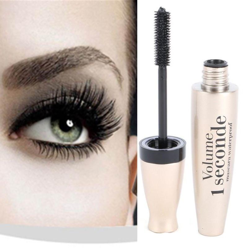 Lady 3D Fiber Mascara Long Black Lash skropstu pieaudzēšanas ūdensnecaurlaidīgs acu kosmētiskais skropstu tušu ūdensnecaurlaidīgs skropstu tušu tilpums