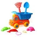 6 Pçs/set 2016 Crianças Crianças Brinquedos Do Bebê Brinquedos do Banho de Água Ambiente À Beira Da Praia do Verão & Segurança Brilhante Colorido do Moinho de vento de Areia