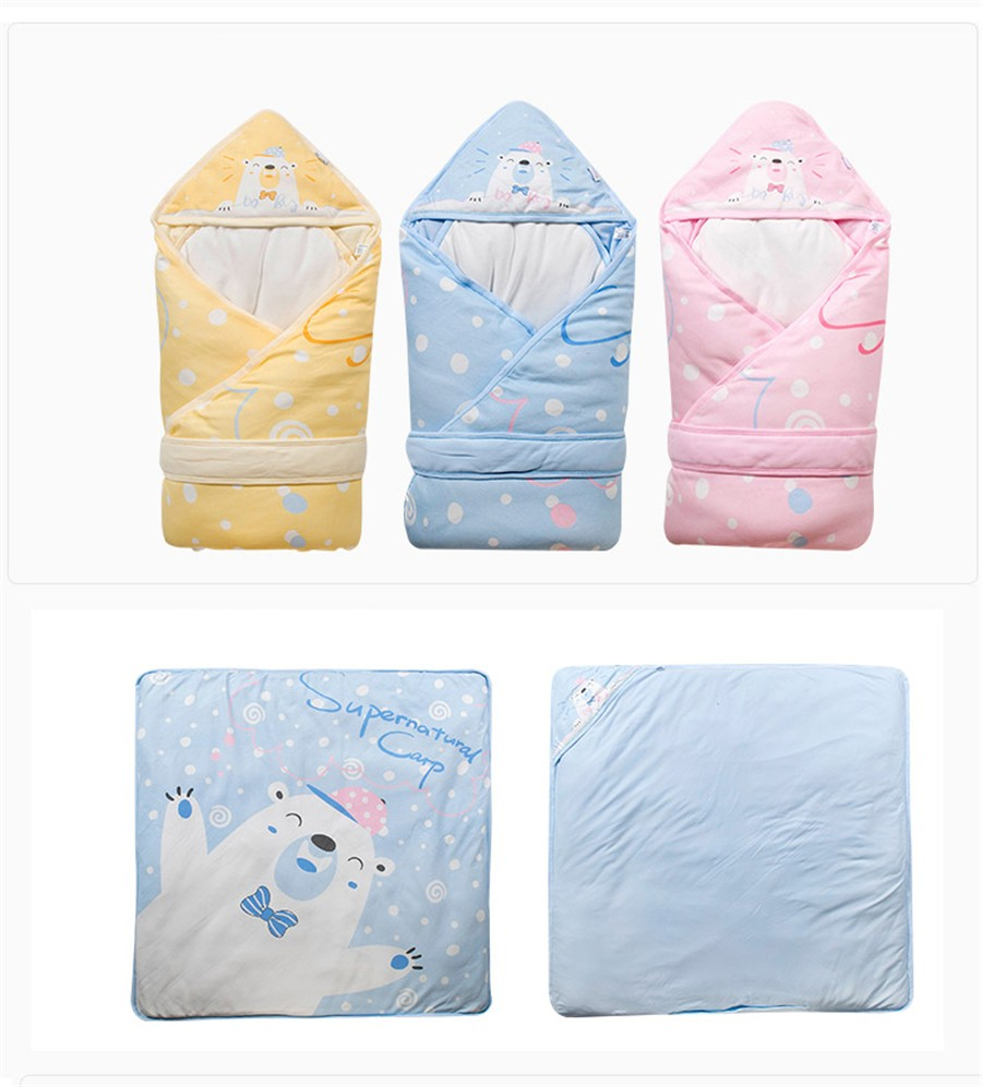 Baby Wrapped Blanket Warm Care (17)