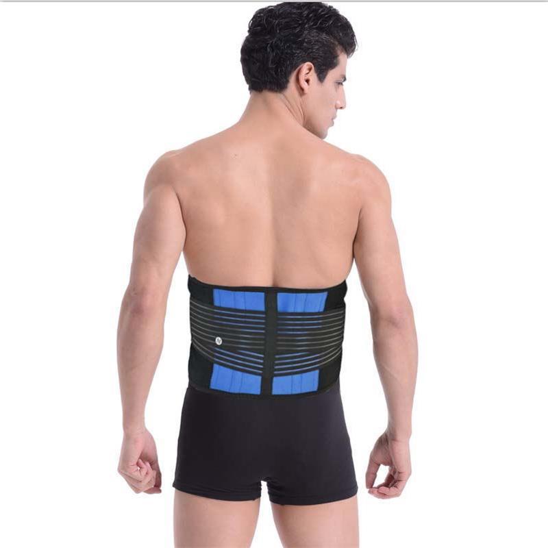 Aofeite Men Posture Back Support Belt Lumbar Brace Waist Corset Elastic Slimming Waist Support Back Brace Women