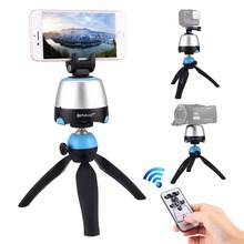 PULUZ Electronic 360 Degree Rotation Panoramic Tripod Head Mount with Remote Controller for Gopro Smartphones DSLR Cameras
