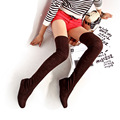 Ladies big size13 12 rebanho de Veludo Sobre a Motocicleta joelho elástico bota inverno altura crescente botas de salto cunha mulheres sapatos