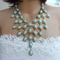 Mint Necklace, Statement Necklace, Party Necklace, Wedding Necklace