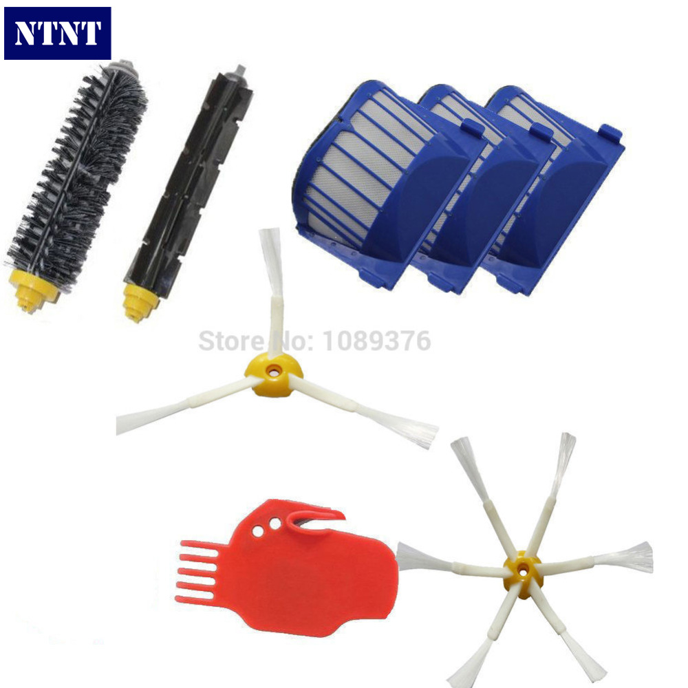 NTNT Free Post New AeroVac Filter + Brush 3/6 armed for iRobot Roomba Vacuum Part Clean 600 Series Clean Tool ntnt free post new side brush filter 3 armed kit for irobot roomba vacuum 500 series clean tool