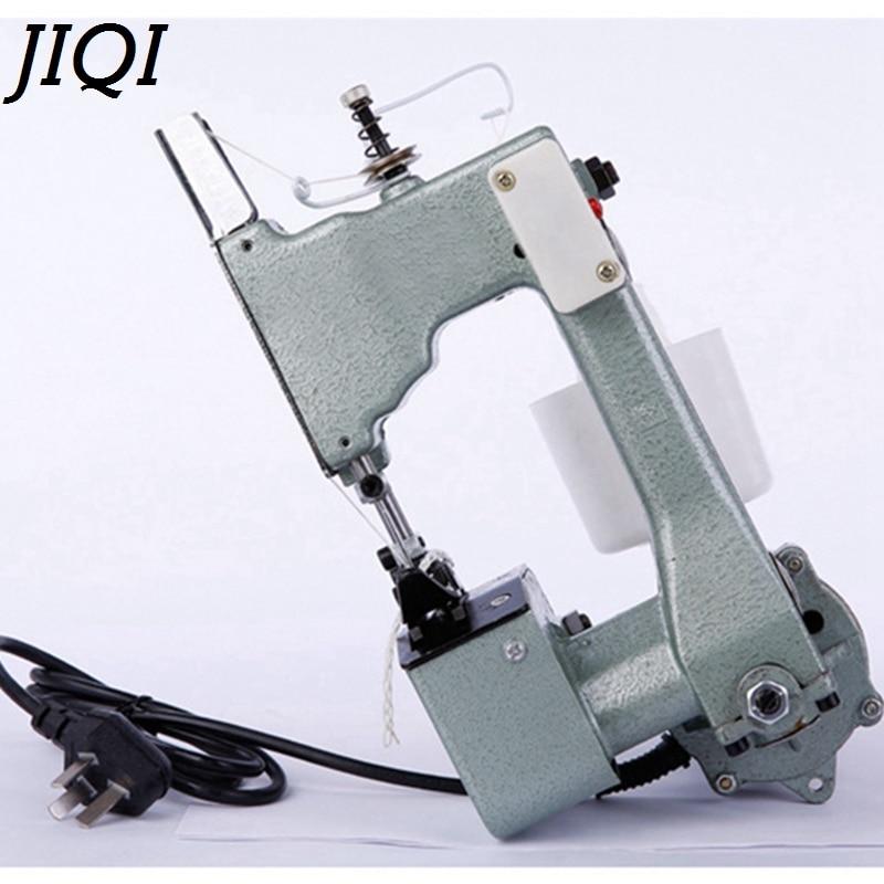 JIQI Electric Sewing Machine Sealing Machines handheld Industrial Cloth Bag Closer Aluminum alloy Manual Stitching maker EU plug new manual shoe making sewing machine