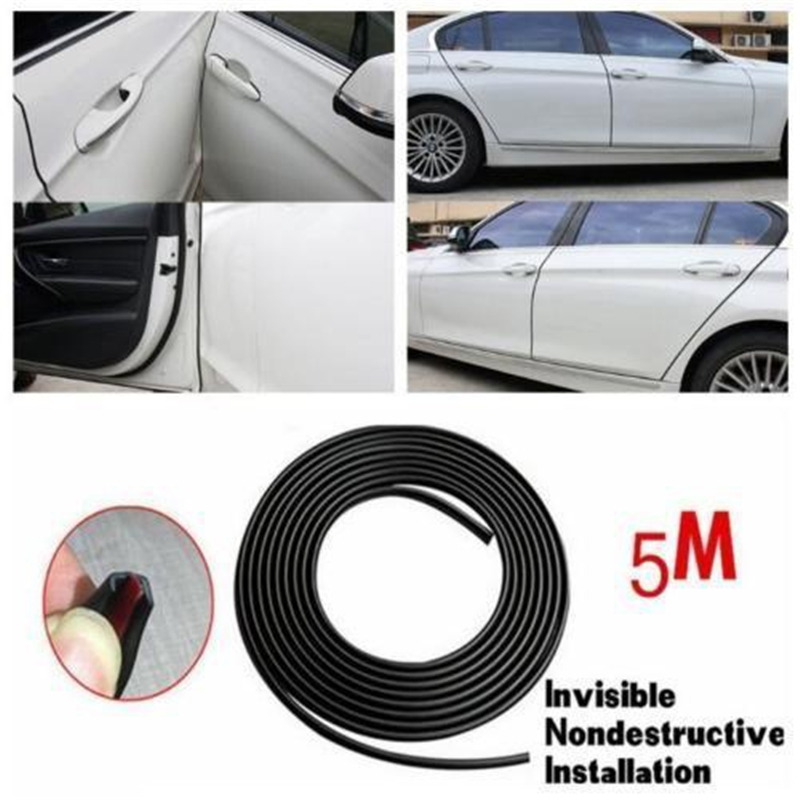 Universal Car 5m Door Edge Guard Scratch Strip Protector Rubber Sealing Trim Molding Car Styling For BMW Ford SUV(China)