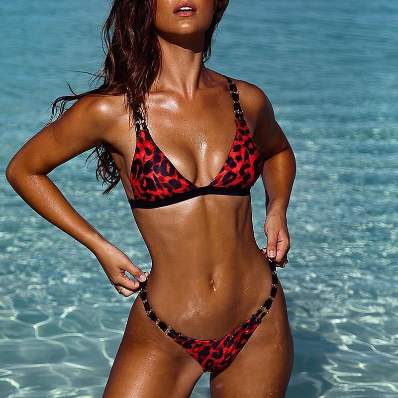 HTB1ORMaXRCw3KVjSZFuq6AAOpXag Bikinx Snake print bikinis 2019 mujer bathing suit Triangle sexy female swimsuit Push up swimwear women bathers Micro bikini new