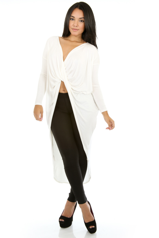 Long sleeve split front maxi dress