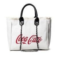 Tote Handbag Box Shape Shoulder Bag Funny Personality Saddle Bag Diagonal Chain Fashion Messenger Coke Rock Pack Festival LA3