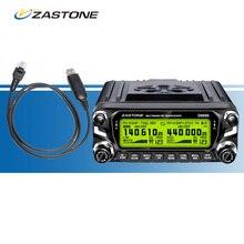 ZASTONE D9000 Voiture Talkie Walkie + Câble de Programmation, ZT-D9000 50 W VHF UHF Double Bande Walkie à Deux Voies Émetteur-Récepteur Radio pour Voiture