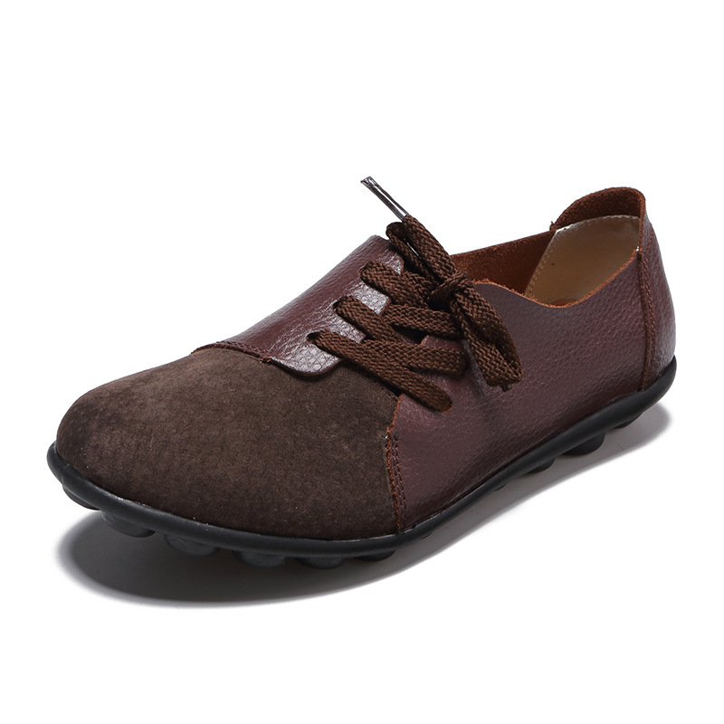 Moccasins Flat-Shoes Spring Slip-On Autumn Genuine-Leather Women Ladies 35-44 Casual