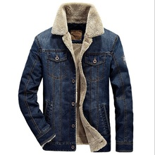 M-4XL men jacket and coats brand clothing denim jacket Fashion mens jeans jacket thick warm winter outwear male cowboy