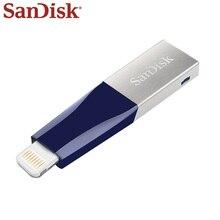 100% 원래 SanDisk IXPAND USB 플래시 드라이브 128GB 번개 금속 IX40 USB 3.0 아이폰 iPad 64GB 메모리 USB 스틱